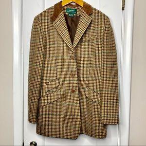 Ralph Lauren vintage wool blazer houndstooth